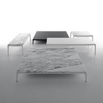 Table basse contemporaine / en aluminium laqué / en résine / rectangulaire