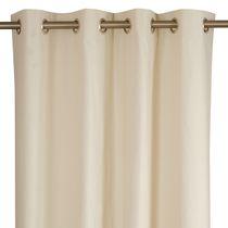Rideau uni / à oeillets / en polyester / en coton