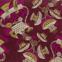 Tissu d'ameublement / à motif / en polyester / en viscose