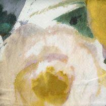 Tissu d'ameublement / à fleurs / en polyester / en acrylique