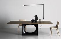 Table contemporaine / en bois / en métal / rectangulaire