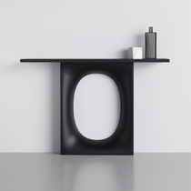 Console design original / en verre / en métal / rectangulaire