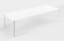 Table contemporaine / en bois / rectangulaire / à rallonge