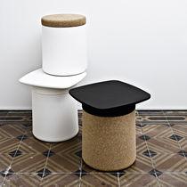 Table d'appoint contemporaine / en plastique / carrée / de jardin