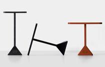 Table contemporaine / en fer / rectangulaire / d'extérieur