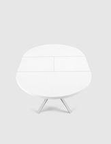 Table contemporaine / en MDF / en aluminium / ronde