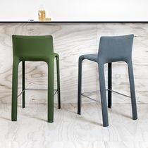 Chaise de bar contemporaine / tapissée / en tissu