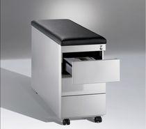 Caisson de bureau en acier / en cuir / à 3 tiroirs / à 2 tiroirs