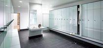 Casier vestiaire en verre / pour établissement public / pour installation sportive