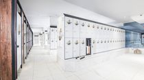 Casier vestiaire en acier / pour établissement public / à usage industriel / professionnel