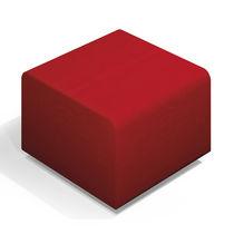 Pouf contemporain / en simili cuir / carré / pour établissement public