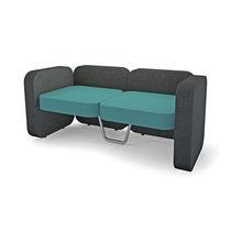 Canapé contemporain / en tissu / pour établissement public / 2 places