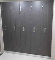 Casier vestiaire en bois / pour établissement public / sécurisé / pour pièce humide