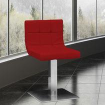 Chaise visiteur contemporaine / tapissée / pivotante / piètement central