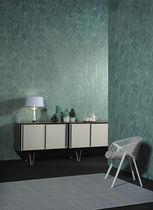 Papier peint contemporain / en fibre végétale / géométrique / aspect métal