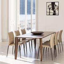 Chaise contemporaine / en tissu / en cuir