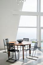 Chaise contemporaine / en cuir / professionnelle
