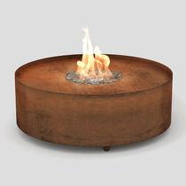 Brasero de jardin à gaz / en inox / en acier COR-TEN® / contemporain