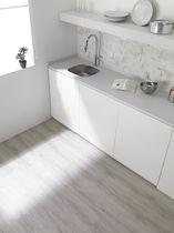 Dalle souple d'intérieur / de sol / en PVC / aspect bois