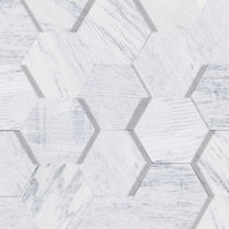 Plaque de pierre en marbre / mate / de bardage / blanche