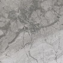 Plaque de pierre en marbre / mate / pour agencement intérieur / grise
