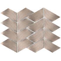 Mosaïque d'intérieur / murale / en métal / brillante