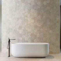 Carrelage d'intérieur / mural / en pierre calcaire / uni
