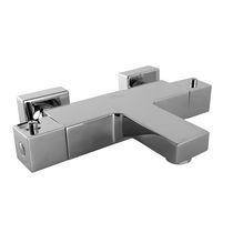 Mitigeur pour baignoire / en métal chromé / thermostatique / 1 trou