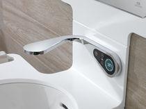 Robinet pour vasque / mural / en laiton chromé / électronique