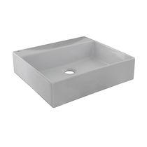 Vasque suspendue / rectangulaire / en céramique / contemporaine