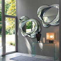 Miroir mural / contemporain / argenté