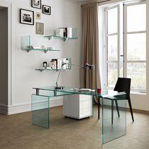 Bureau en verre / contemporain / professionnel / d'angle