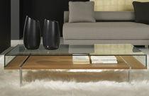 Table basse / contemporaine / en frêne / en métal