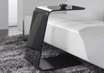 Table d'appoint / contemporaine / en cristal