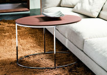 Table d'appoint / contemporaine / en marbre / en verre