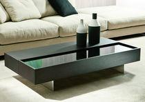 Table basse / contemporaine / en cuir / en frêne