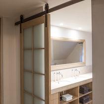 Vasque à encastrer / rectangulaire / en porcelaine / contemporaine
