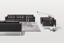Canapé contemporain / en cuir / 2 places / 3 places