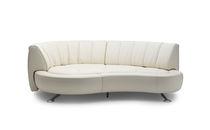 Canapé en arc de cercle / modulable / contemporain / en cuir