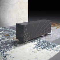 Buffet contemporain / en bois laqué / gris