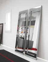 Miroir mural / contemporain / rectangulaire / en inox