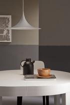 Table à manger contemporaine / en bois / ovale / à rallonge
