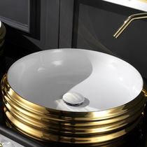 Vasque à poser / ronde / en céramique / design original