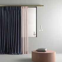 Tissu pour rideaux / uni / en polyester / à usage résidentiel