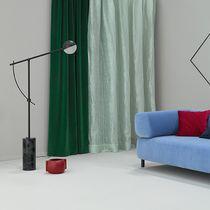 Tissu d'ameublement / pour rideaux / à rayures / en coton
