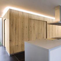 Panneau de séparation / pour mur / MDF / en bois massif