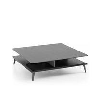 Table basse contemporaine / en bois / carrée
