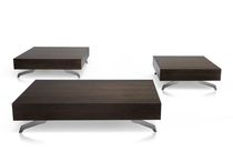 Table basse contemporaine / en bois / rectangulaire / carrée