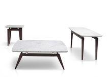 Table basse contemporaine / en marbre / rectangulaire / carrée