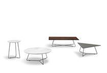 Table basse contemporaine / en marbre / en bois laqué / rectangulaire